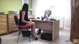 Future secretary Inga is properly fucked doggy style by horny boss