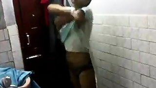 Indian girl in have a bowel movement
