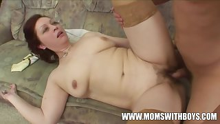 Amateurs Redhead Stepmom In Stockings Old Increased by Young Co