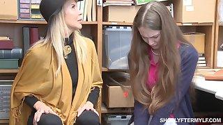MILF Erica Lauren and stepdaughter get rewarded with mucilaginous cumshot