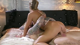 Sweet tow-headed loves riding in slow motion to feel the dick better