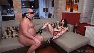 Provocative model Nikki Fox enjoys riding a dick of an older defy