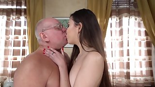 Old naughty professor gets his cock sucked for better grades