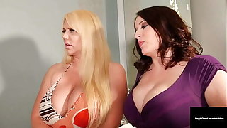 Big Busty Threesome! Maggie Green & Karen Fisher There Family Member!