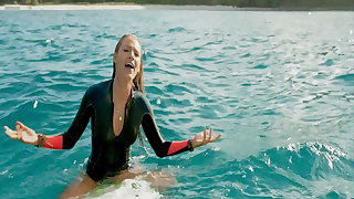 Blake Lively hot in bikini and nice cleavage, Blake vs shark