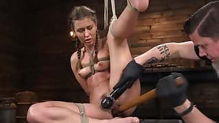 Ecumenical plays with rich sponsor who bangs pussy with wooden pole