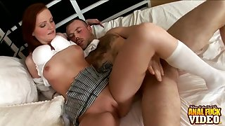Crap impenetrable depths pussy and ass drilling with cum loving slut Usova