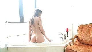 Horny newborn Lola Leda pleasures her pussy while dwelling alone