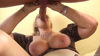 Mature with huge tits, serious POV action with a monster Hawkshaw