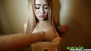 Quite broad in the beam racked positive Asian cowgirl is hammered doggy by dude with cam