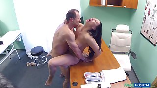 Eva Ann gets a sex toy grasp in her twat and relies on doctor for further